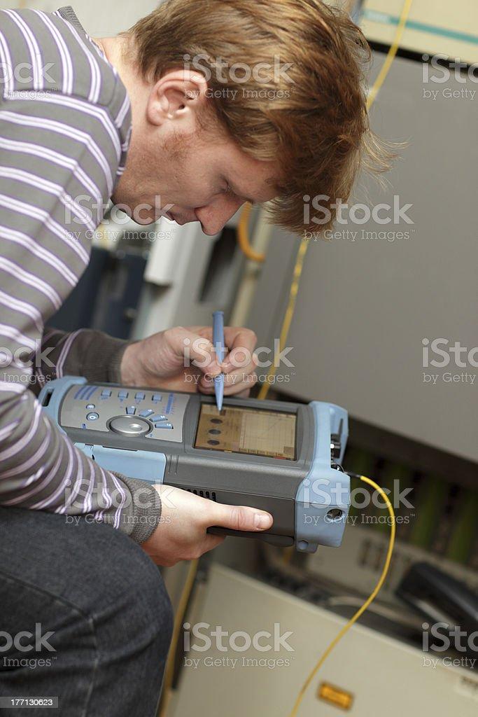 Telecom engineer stock photo