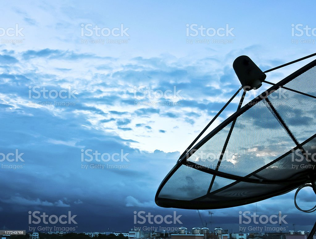 telecom in the sky royalty-free stock photo