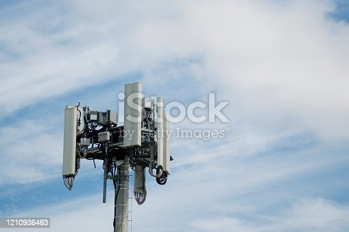 istock Telecommunication antenna of 4G and 5G network 1210936463