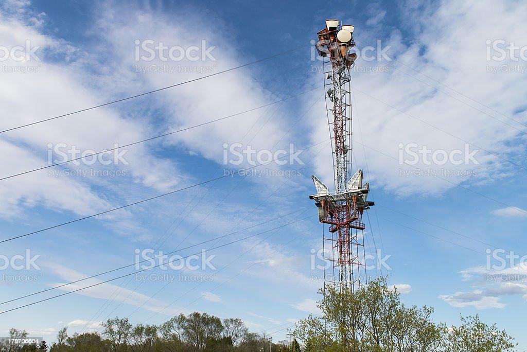 Telecommunication antenna royalty-free stock photo