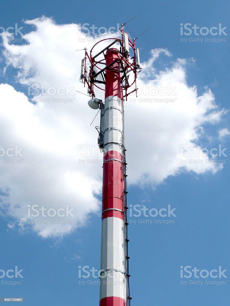 Telecommunication antenna tower royalty-free stock photo