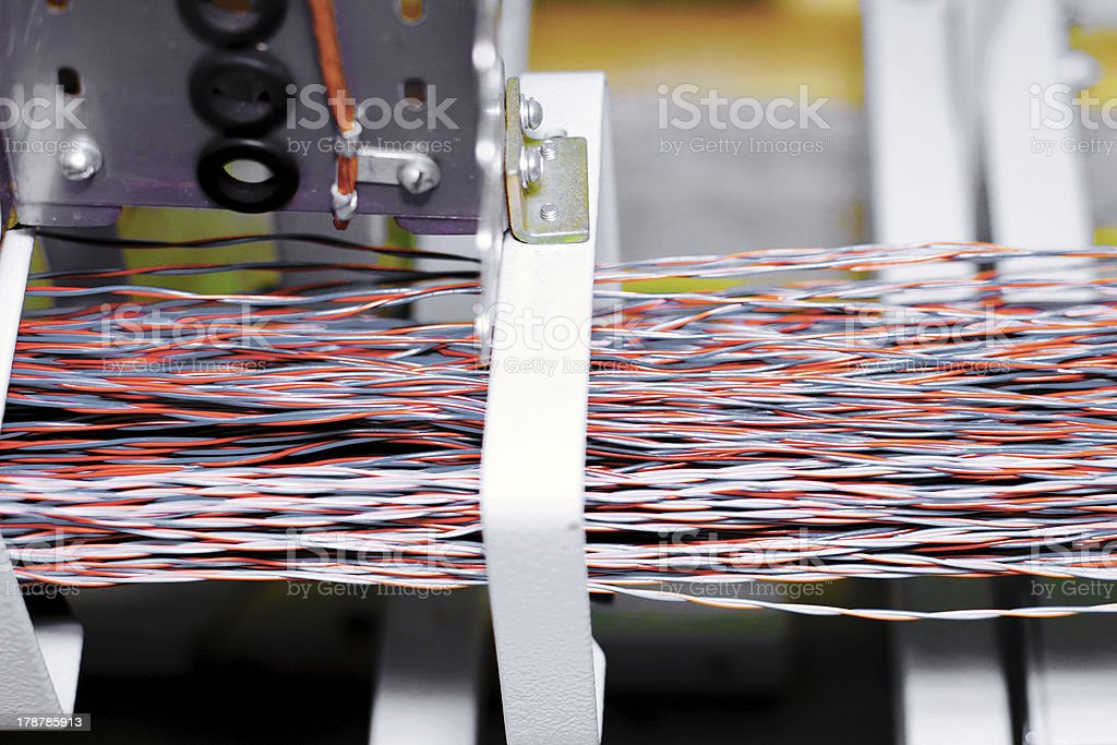 Telecommunication equipment. royalty-free stock photo