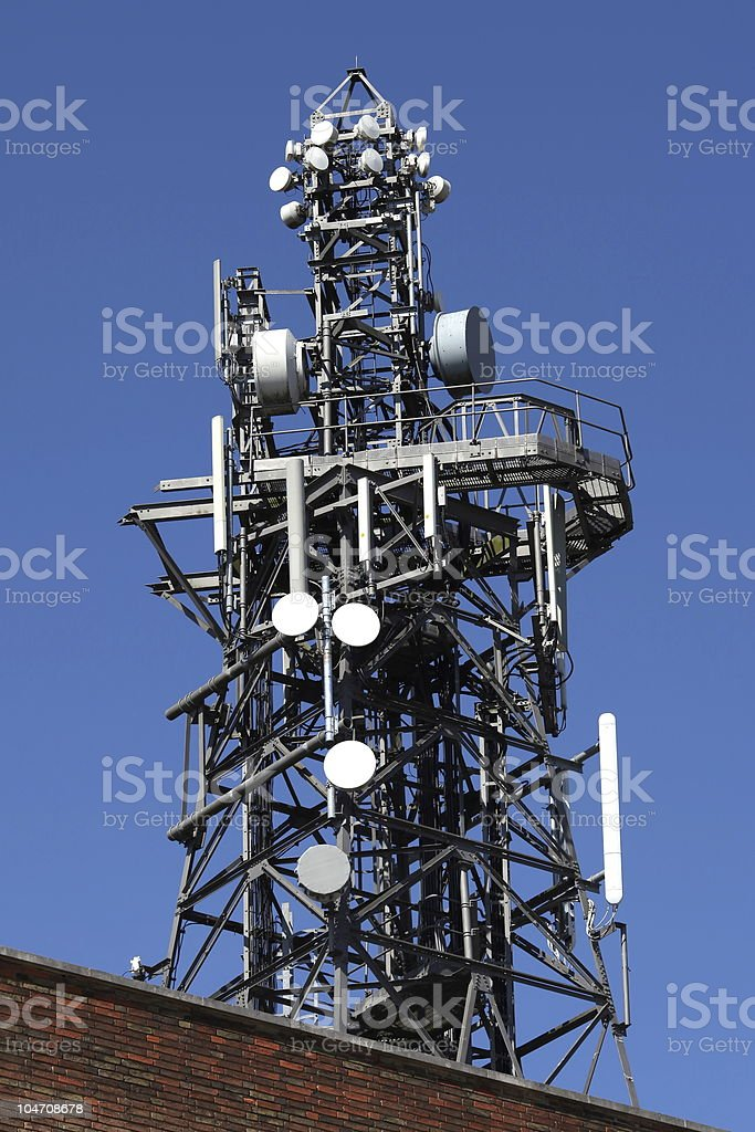 Telecommunication Mast royalty-free stock photo