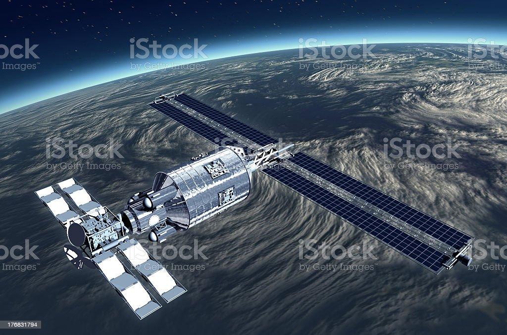Telecommunication Satellite royalty-free stock photo