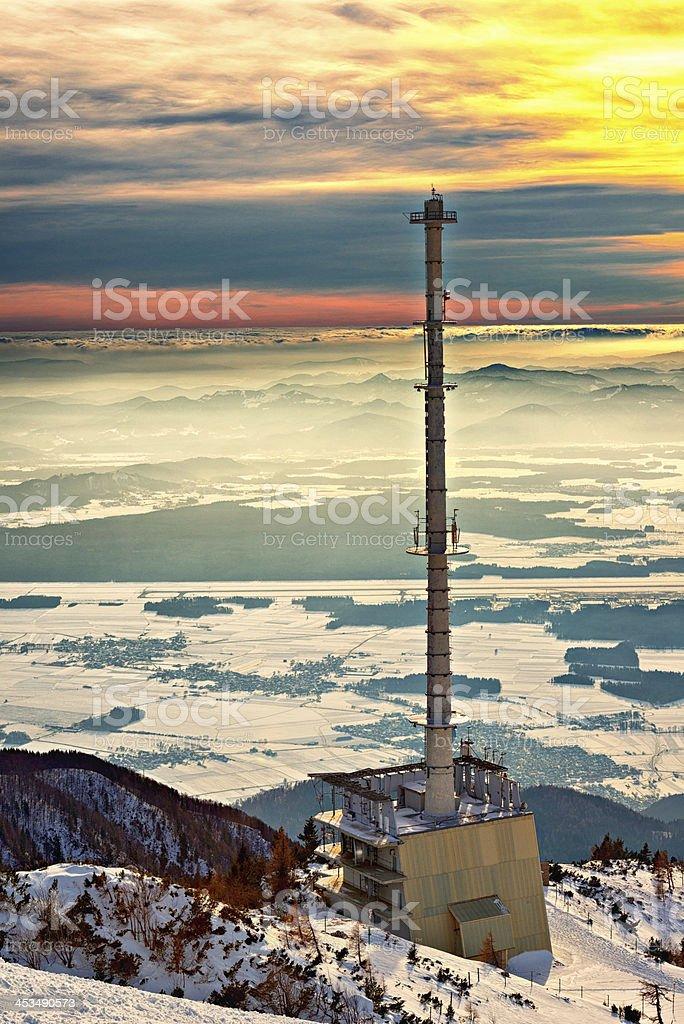 telecommunication station stock photo