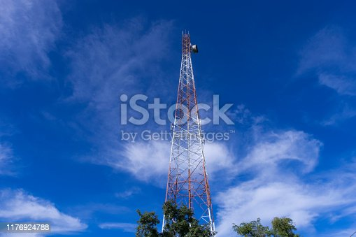 The telecommunication tower to transmission data mobile phone or any signal with wireless technology