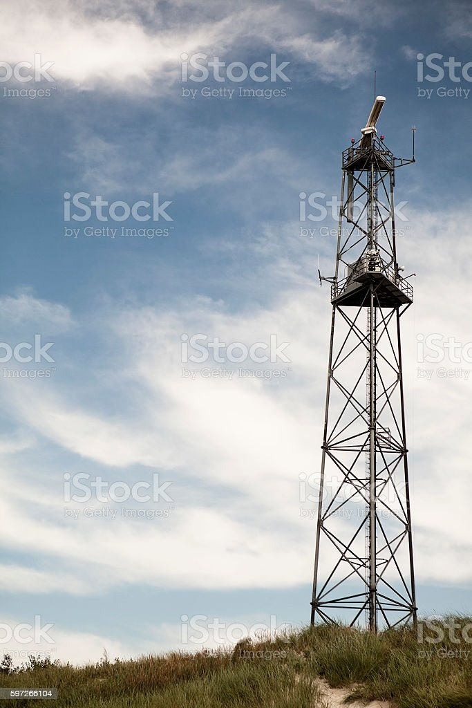 Telecommunication tower mast TV antennas royalty-free stock photo