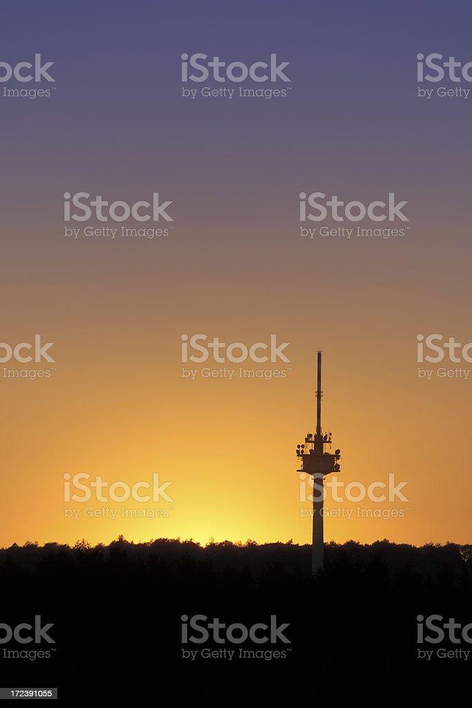 Telecommunication tower (image size XXL) royalty-free stock photo