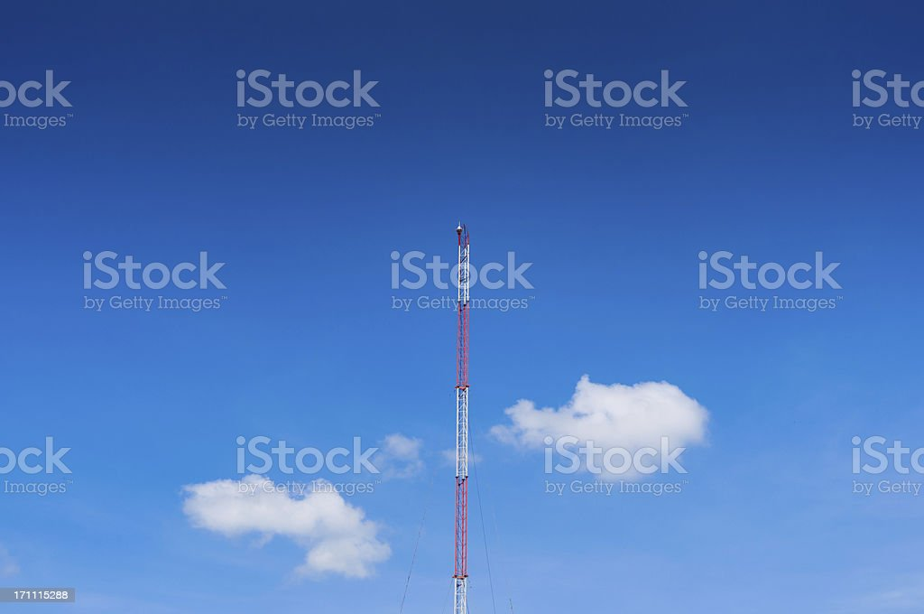 Telecommunication tower with a bit morning sunlight royalty-free stock photo