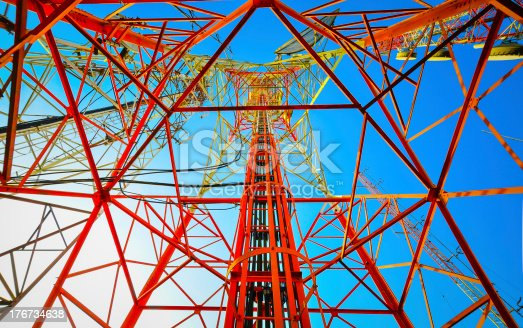 istock Telecommunication tower with a bit morning sunlight 176734638