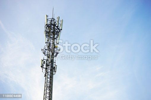 Thailand, Antenna - Aerial, Blue, Broadcasting, Built Structure