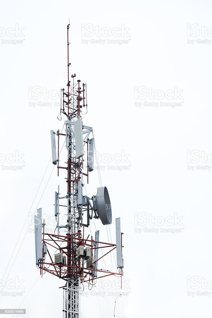 Telecommunications Antenna stock photo