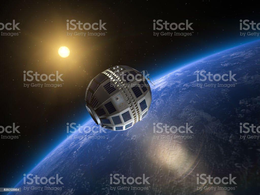 Telecommunications Satellite stock photo