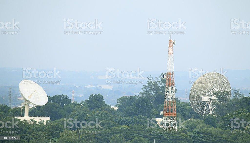 Telecommunications Satellites stock photo