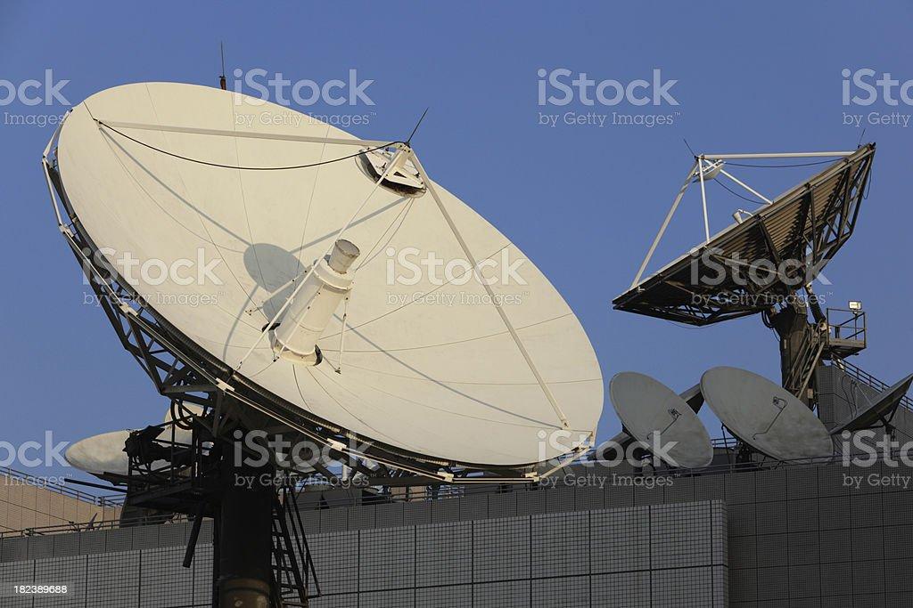 Telecommunications Satellites royalty-free stock photo