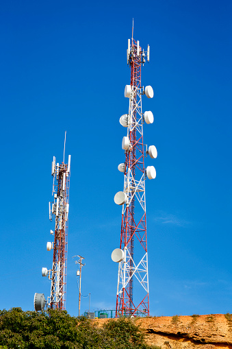 Telecommunications tower for mobile and cell phone