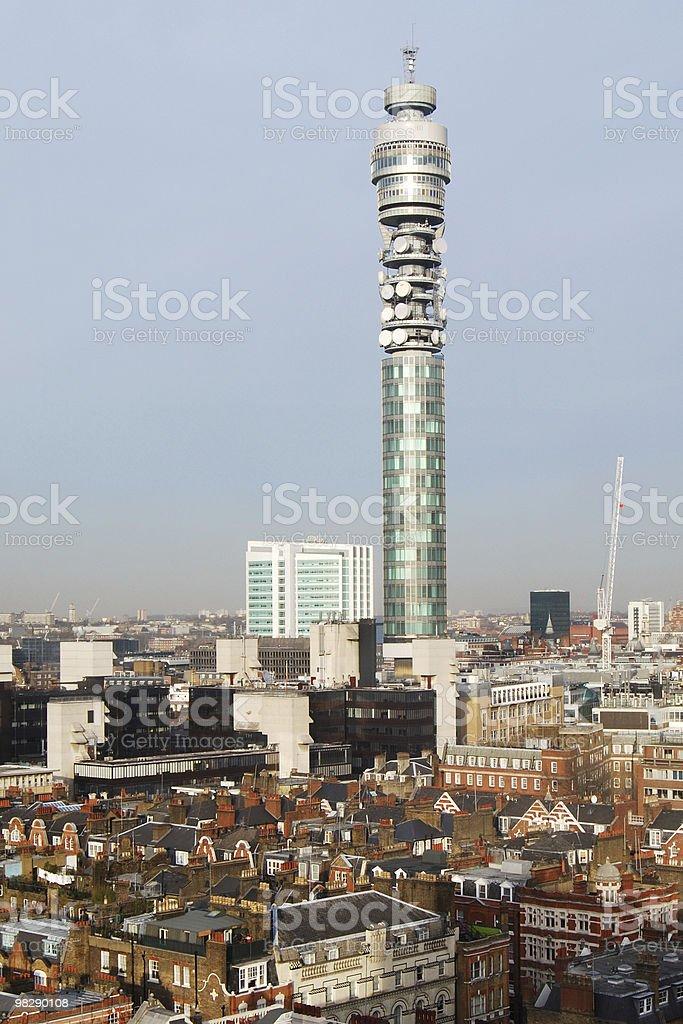 Telecommunications Tower, London, England royalty-free stock photo