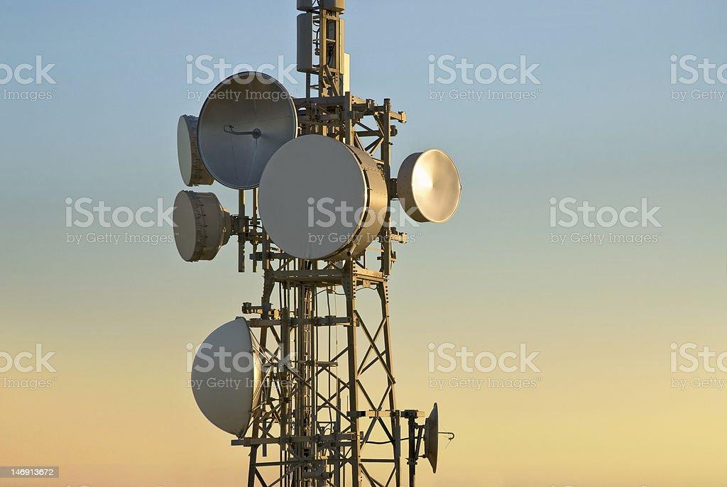 telecommunications tower royalty-free stock photo