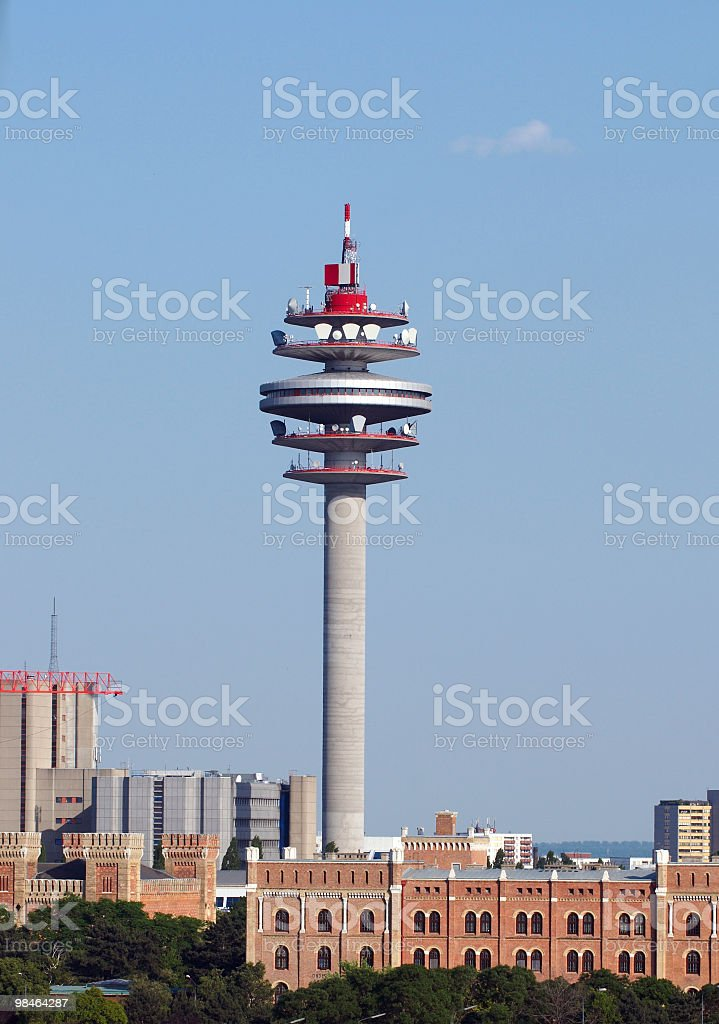 Telecomunication tower royalty-free stock photo