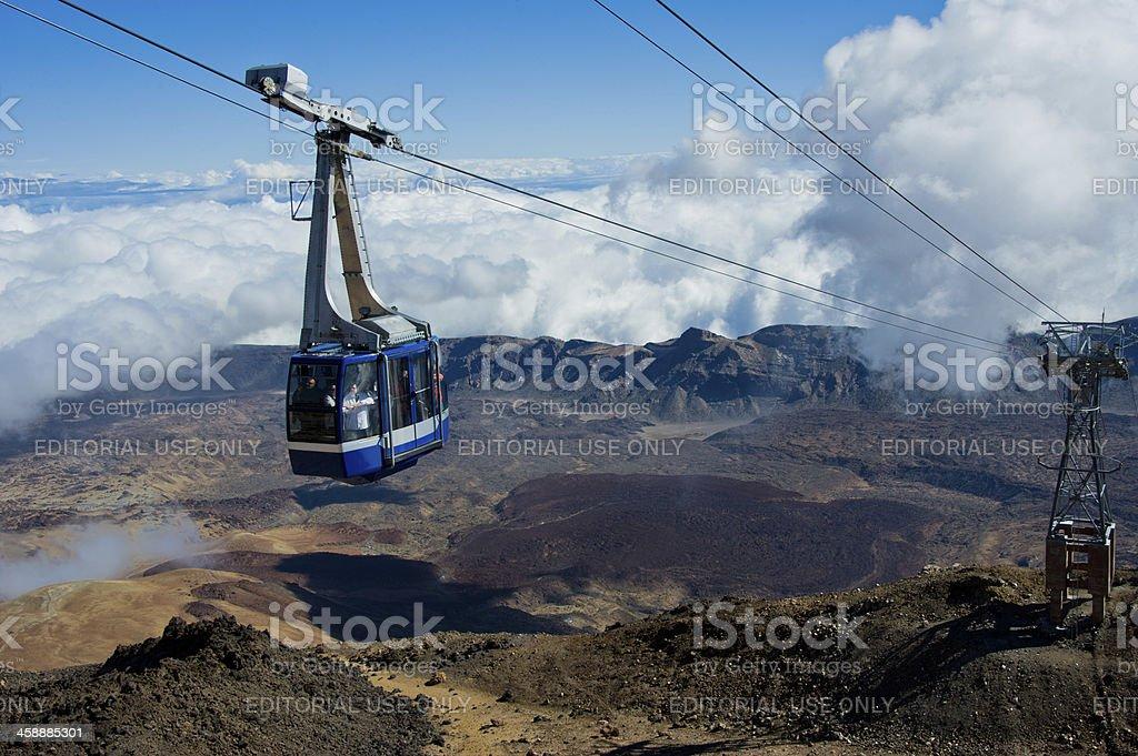 Teleferico de Teide V stock photo