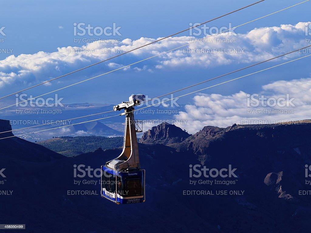 Teleferico del Teide stock photo