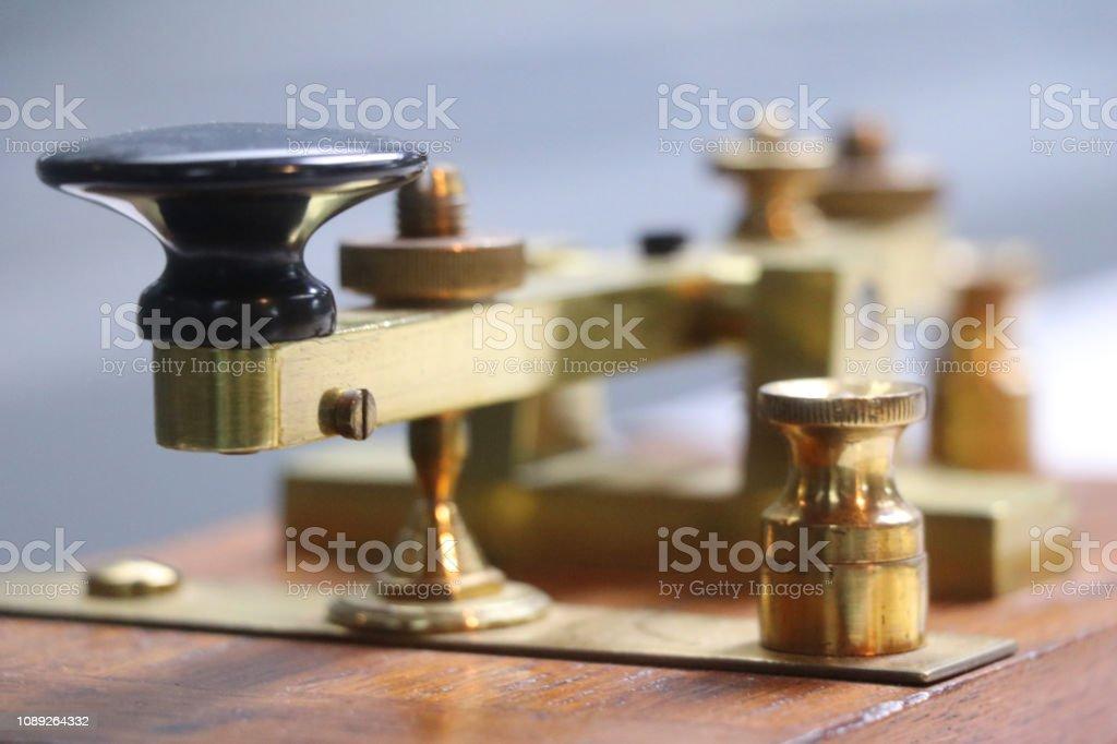 telegraf gerät stock photo