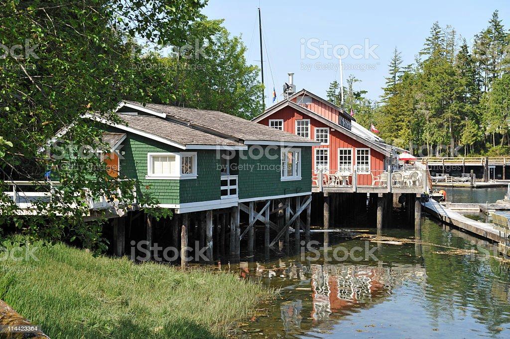 Telegraph Cove,Vancouver Island,British Columbia,Canada stock photo