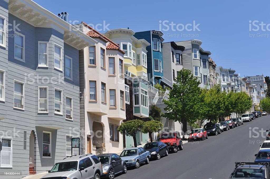 Telegraph Hill of San Francisco stock photo
