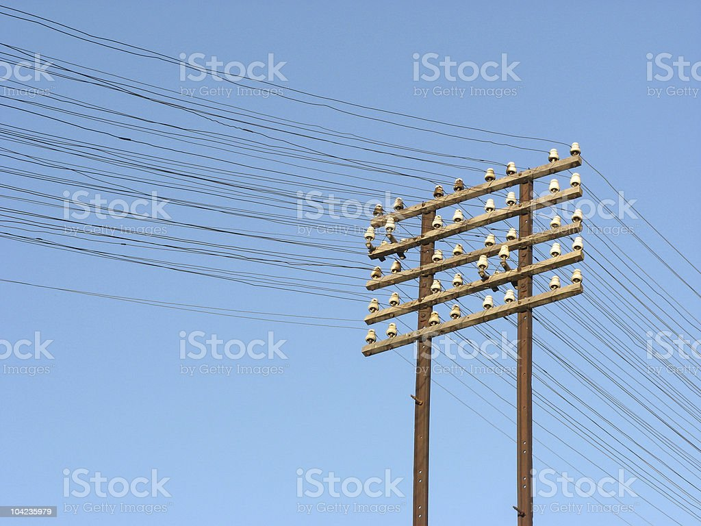 Telegraph lines stock photo