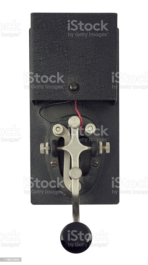 telegraph machine for straight morse code royalty-free stock photo