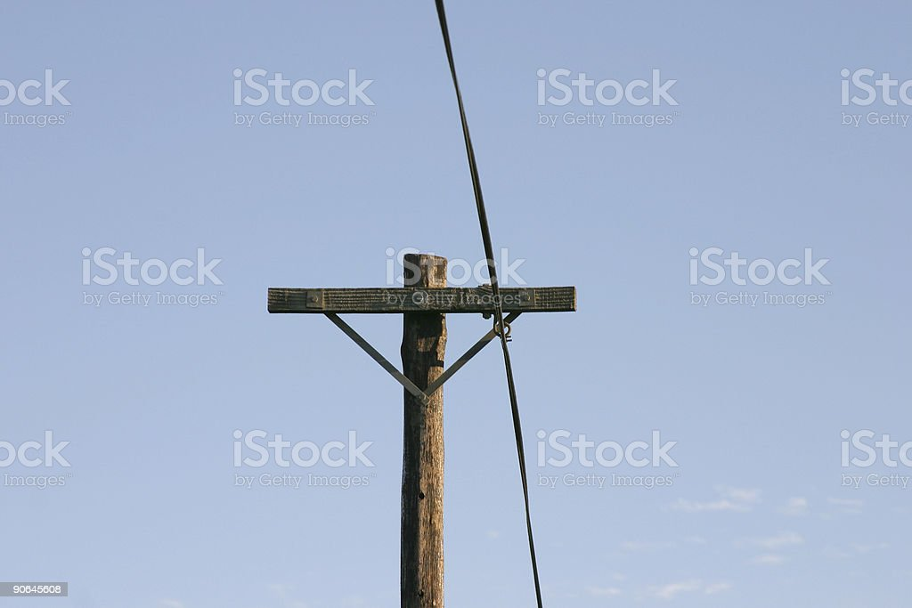 Telegraph Pole 15 royalty-free stock photo