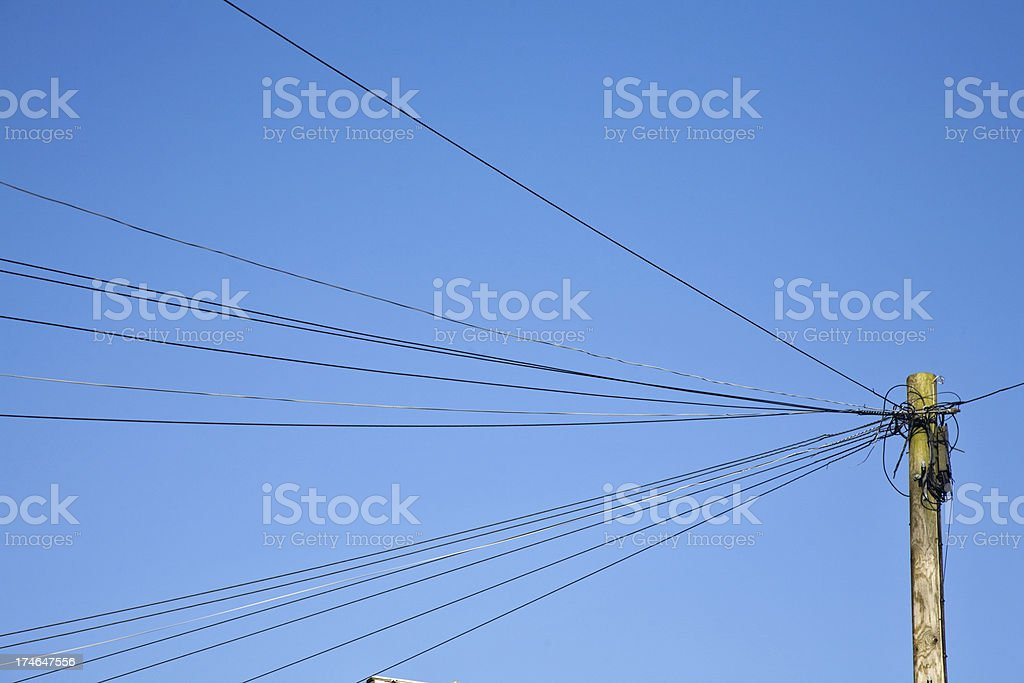 Telegraph Pole and Wires royalty-free stock photo