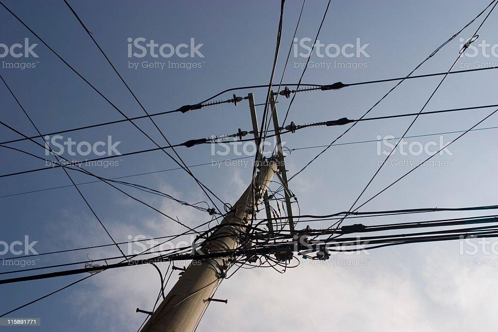 Telegraph pole royalty-free stock photo