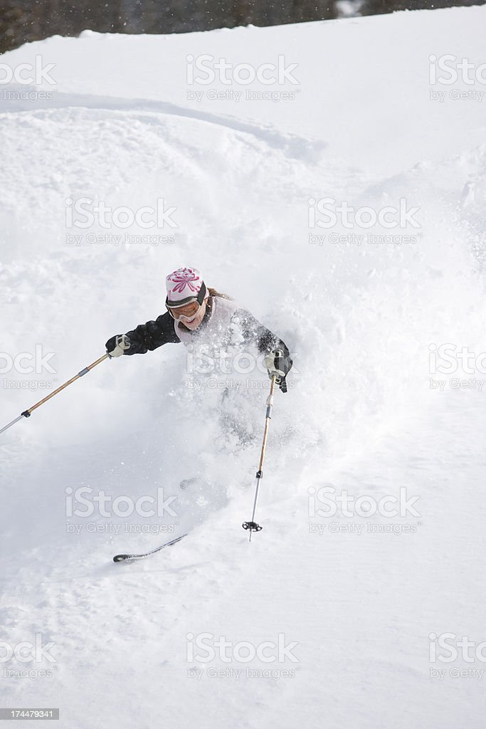 Telemark Skiing stock photo