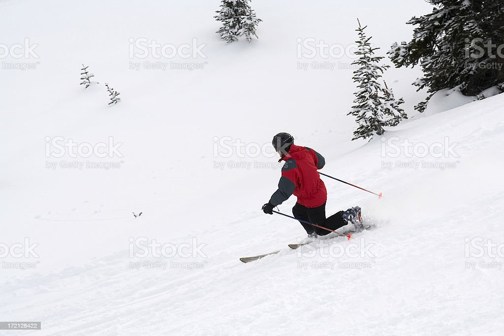 telemarking stock photo