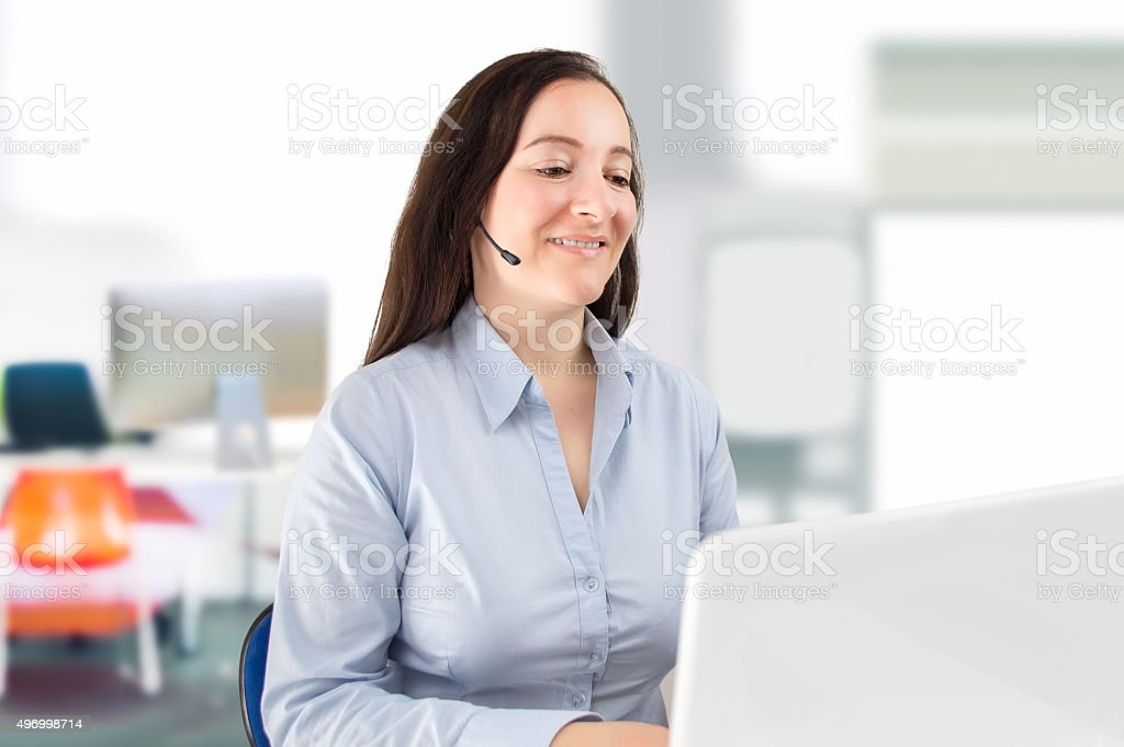 teleoperator at your service stock photo