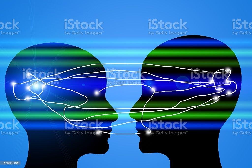 Telepathy stock photo