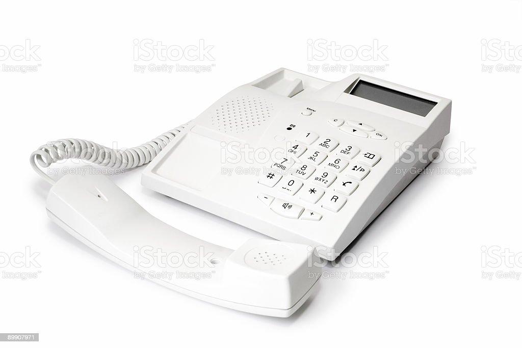 Teléfono y receptor foto de stock libre de derechos