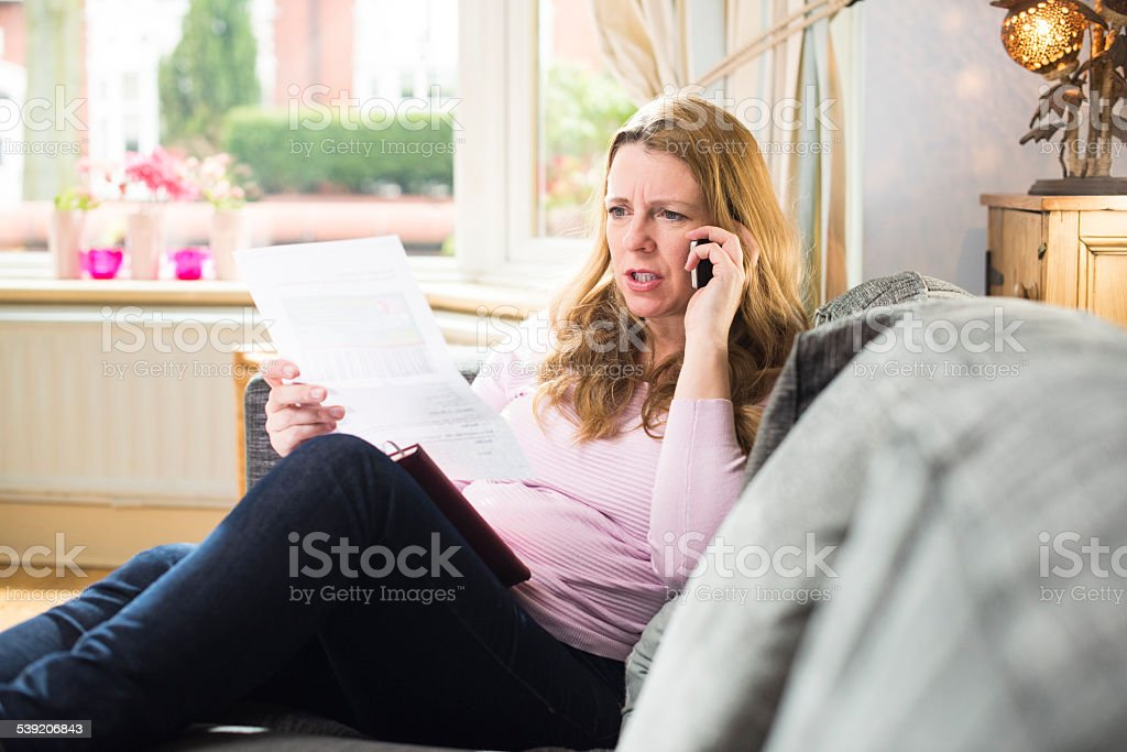 telephone bill query stock photo