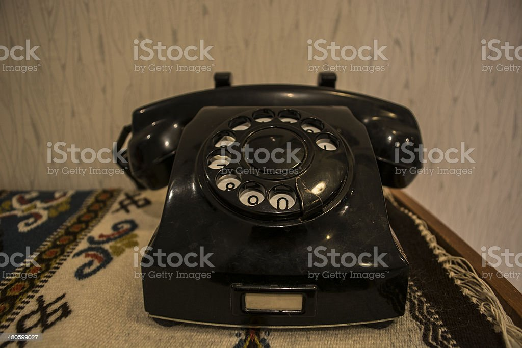 Telephone Black stock photo