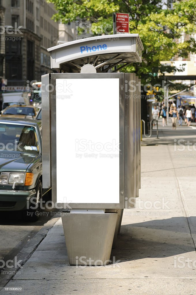 Telephone Booth Billboard stock photo