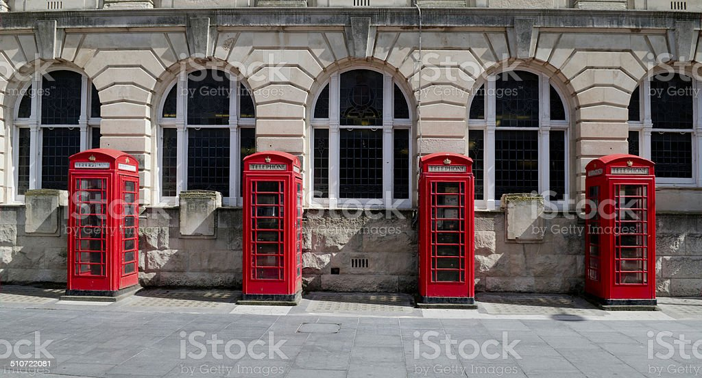 Telephone Booths stock photo