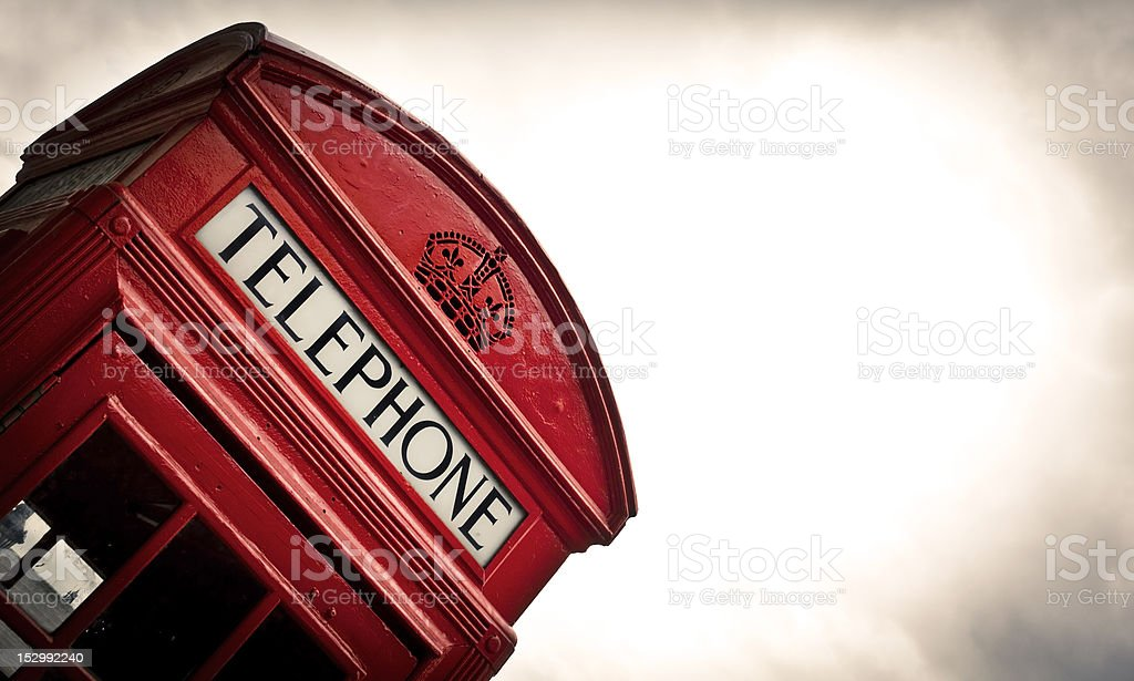 Telephone box in London royalty-free stock photo