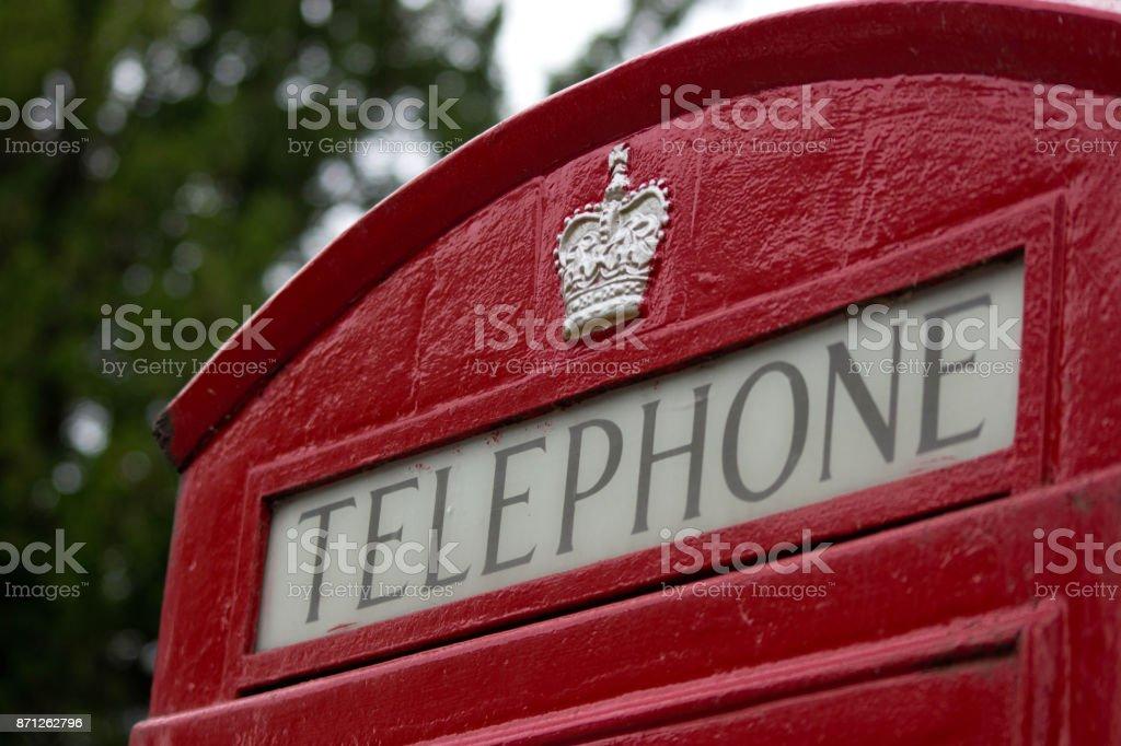 Telephone box in UK stock photo