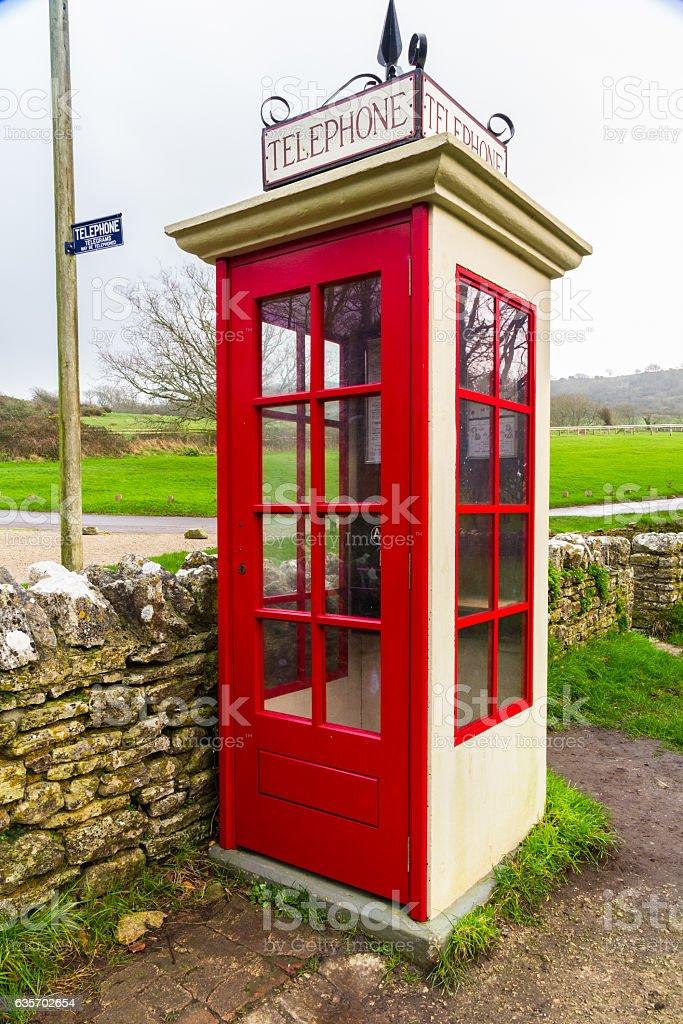 K1 telephone box, UK royalty-free stock photo