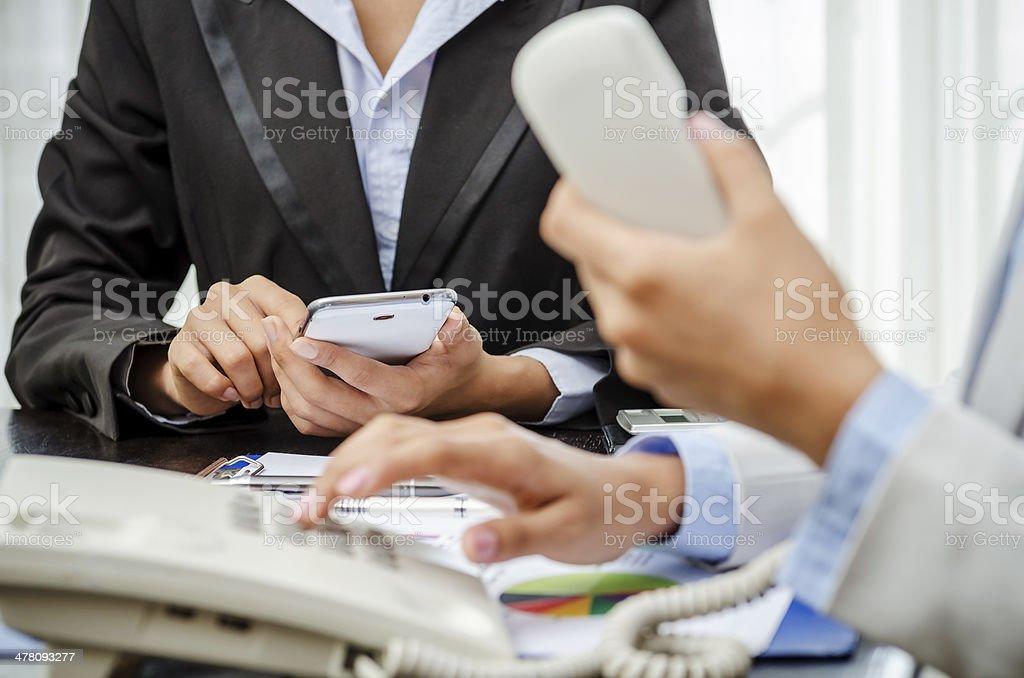 Telephone call stock photo