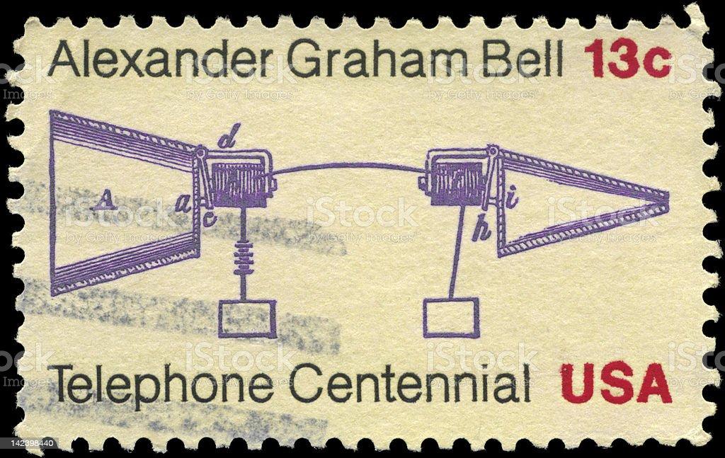 Telephone Centenary stock photo