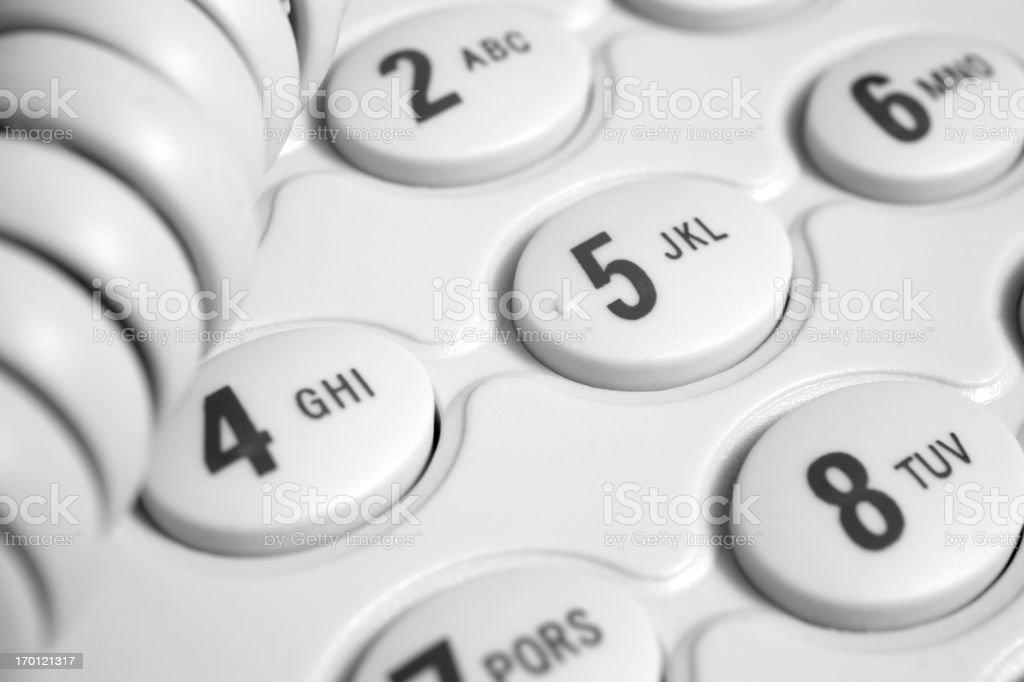 Telephone, close-up. stock photo