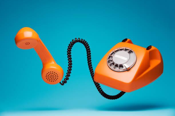 telephone communication concept - cornetta telefono foto e immagini stock