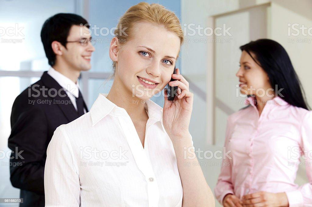 Telephone conversation royalty-free stock photo